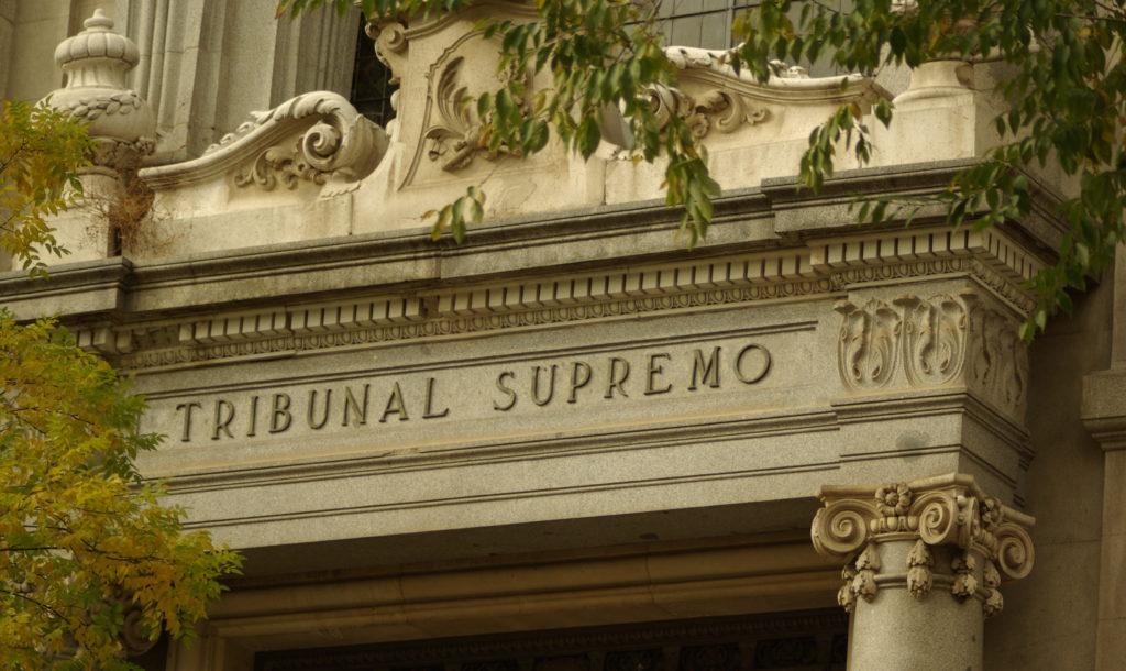 Porta principal do Tribunal Supremo